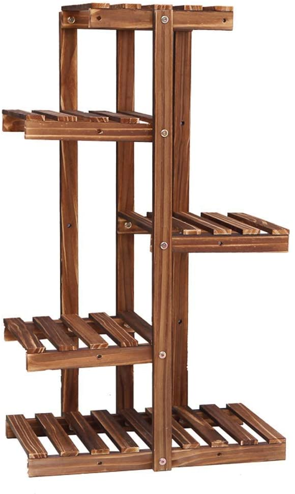 KMMK Plant Stand,Flower Stand Flower Stand, Small Div Combination Practical 4-6-Story Stepped Wood Flower Stand, Suitable for Living Room/Balcony/Outdoor/Garden, 3 Sizes and 2 Styles Shelf,C