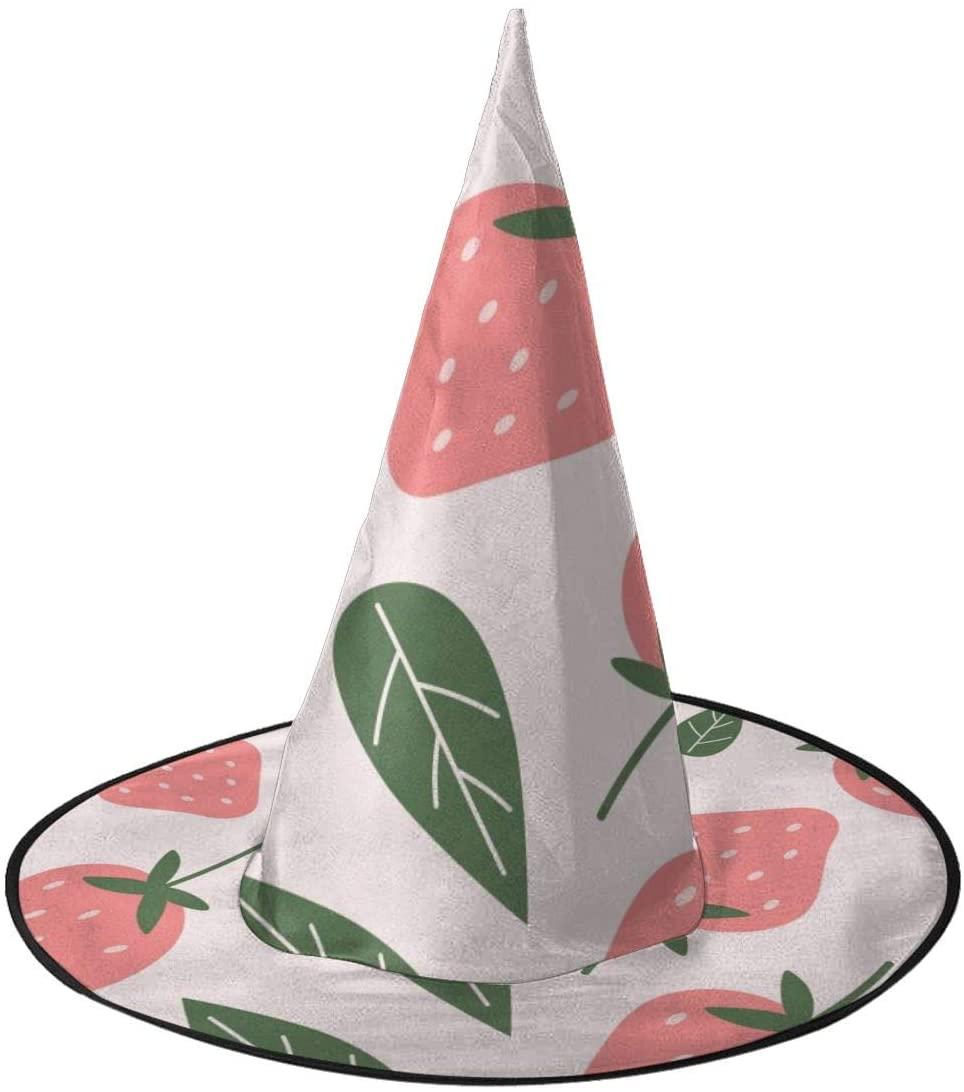 Halloween Witch Hat,Unique Strawberry Seamless Accessory Costumes for Halloween Party