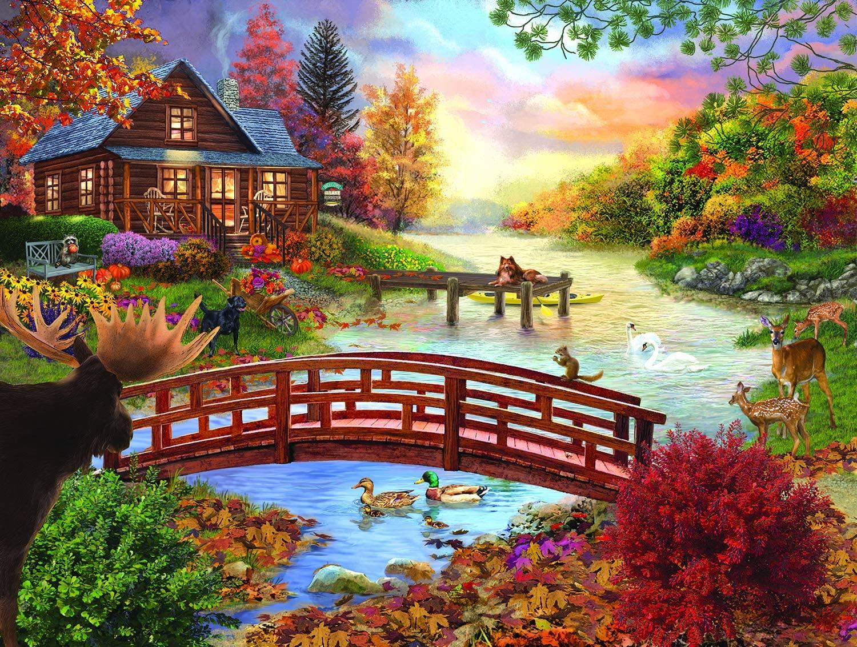 SUNSOUT INC Autumn Evening 300 pc Jigsaw Puzzle