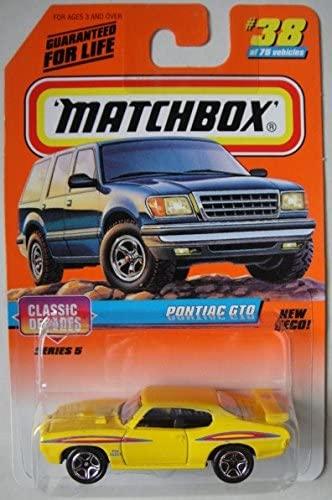 MATCHBOX CLASSIC DECADES YELLOW PONTIAC GTO #38
