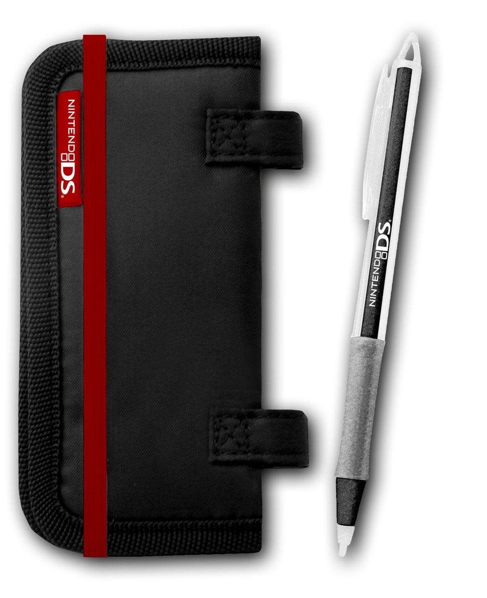 DS Card Folder + Touch Pen Black