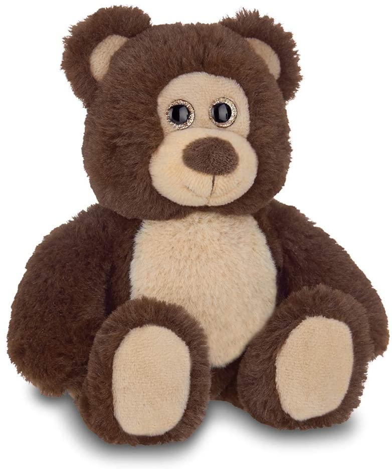 Bearington Lil' Beau Small Chocolate Brown Plush Stuffed Animal Teddy Bear, 7 inches