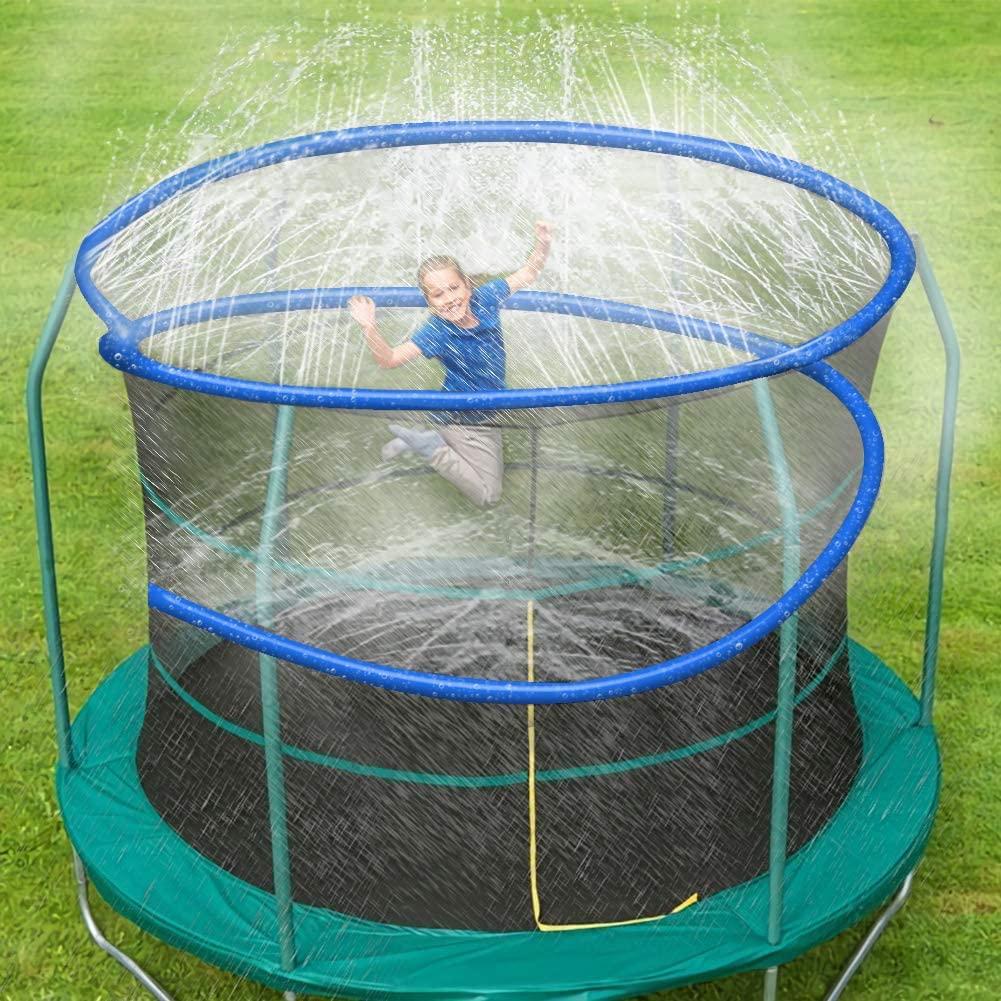 ARTBECK Trampoline Sprinkler, Outdoor Trampoline Water Play Sprinklers for Kids, Fun Water Park Summer Toys Trampoline Accessories (Length-26 ft, Sprinkler-1)