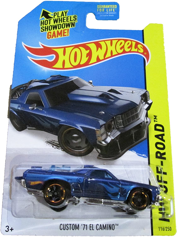 2014 HW Off-Road #116/250, Regular Treasure Hunt Car, Custom '71 El Camino (Blue)