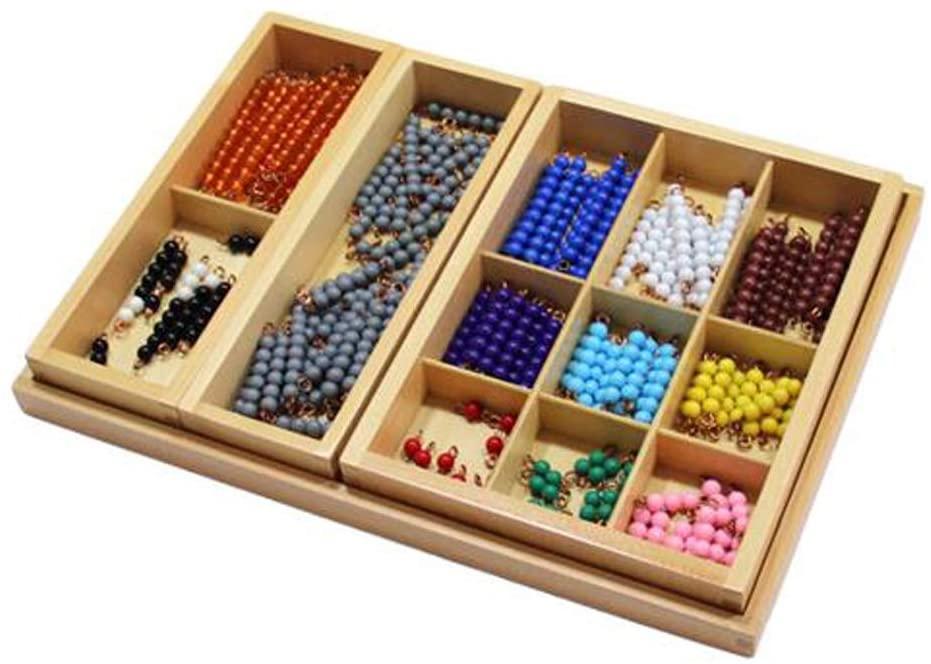 New Sky Enterprises Montessori Math Material Subtraction Snake Game Checker Board Bead Early Development Mathematics Teaching Aids