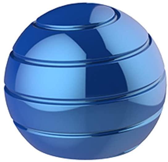 eiaagi Desktop Revolve Decompression Fun Ball Toys, Safe Table Ball Transfer Gyro for Kids Adults (Blue)