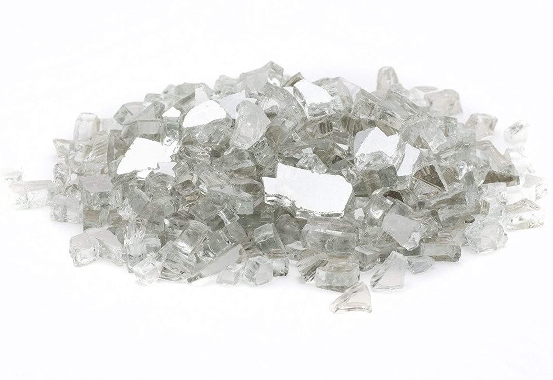 Margo Garden Products 1/4 25lbs Dragon Glass, 25 lb, Crystal