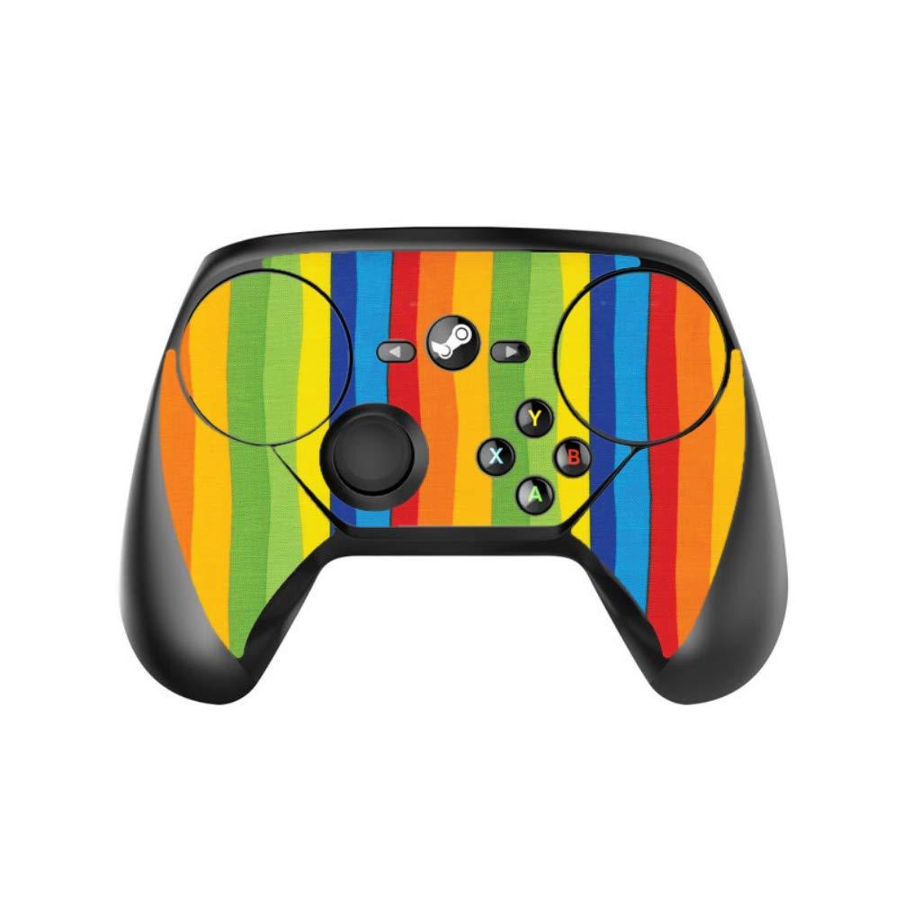 Vertical Rainbow Stripes Vinyl Decal Sticker Skin by egeek amz for Steam Controller