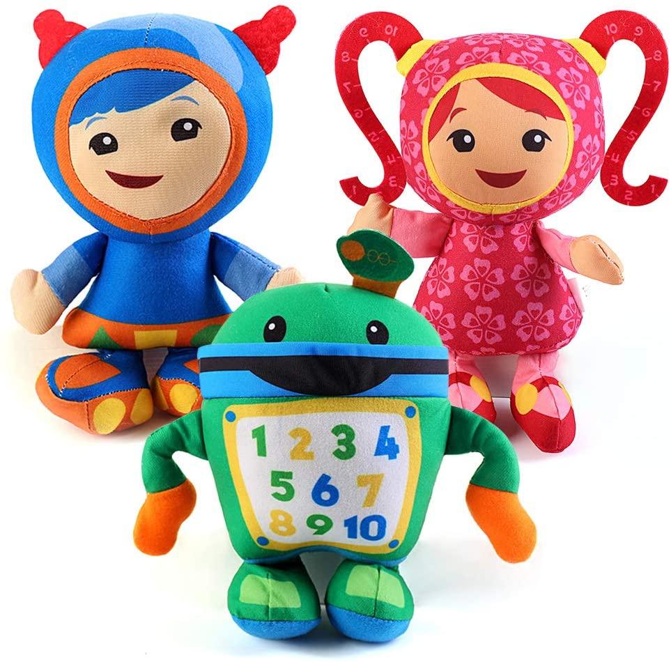 kelee Team Umizoomi Plush Doll Toys for Kids Children --3pcs/Set