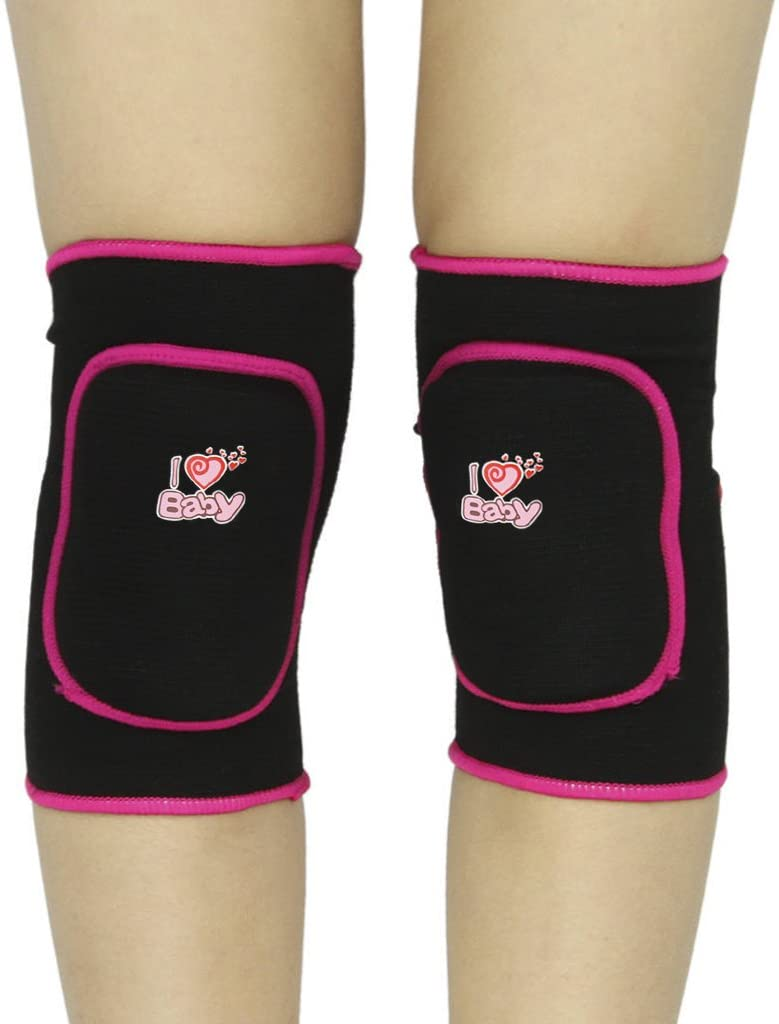 Girls Boys Knee Pads 1 Pair Thick Sponge Collision Avoidance Sport Protector Guard Kneepad Adjustable Antislip Skate Football Volleyball Cycling Knee Brace Pads Support for 3-8 Yrs