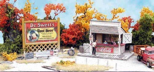 Bar Mills HO Scale Kit Laser-Cut Swanson's Lunch Stand
