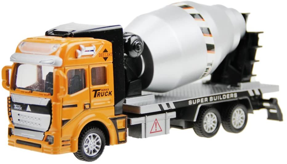 Starsource 1:48 Scale Die-Cast Cement Truck Mixer Model Car Vehicle Play Toy for Kids Boys Toddler