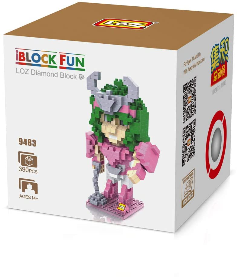 LOZUSA Cartoon Character 390 PCS Diamond Block Mini Figure Hero Micro Blocks Construction Model, Micro-Sized Building Set Parent-Child Games Building Blocks Children's Educational Toys