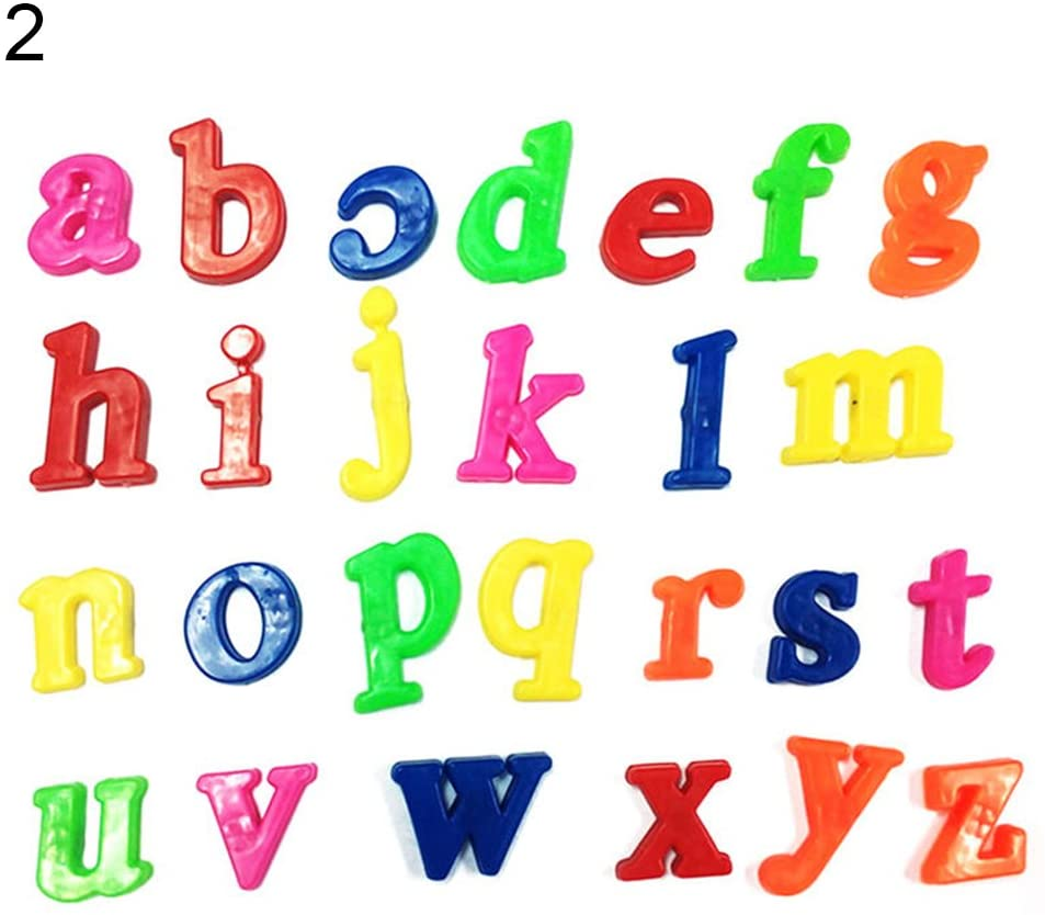 LFOEwpp7 Magnetic Letters and Numbers for Educating Kids in Fun - Alphabet Refrigerator Fridge Magnets -26Pcs Lower/Upper Case Alphabet Letters Number Learning Toy Lower Letters