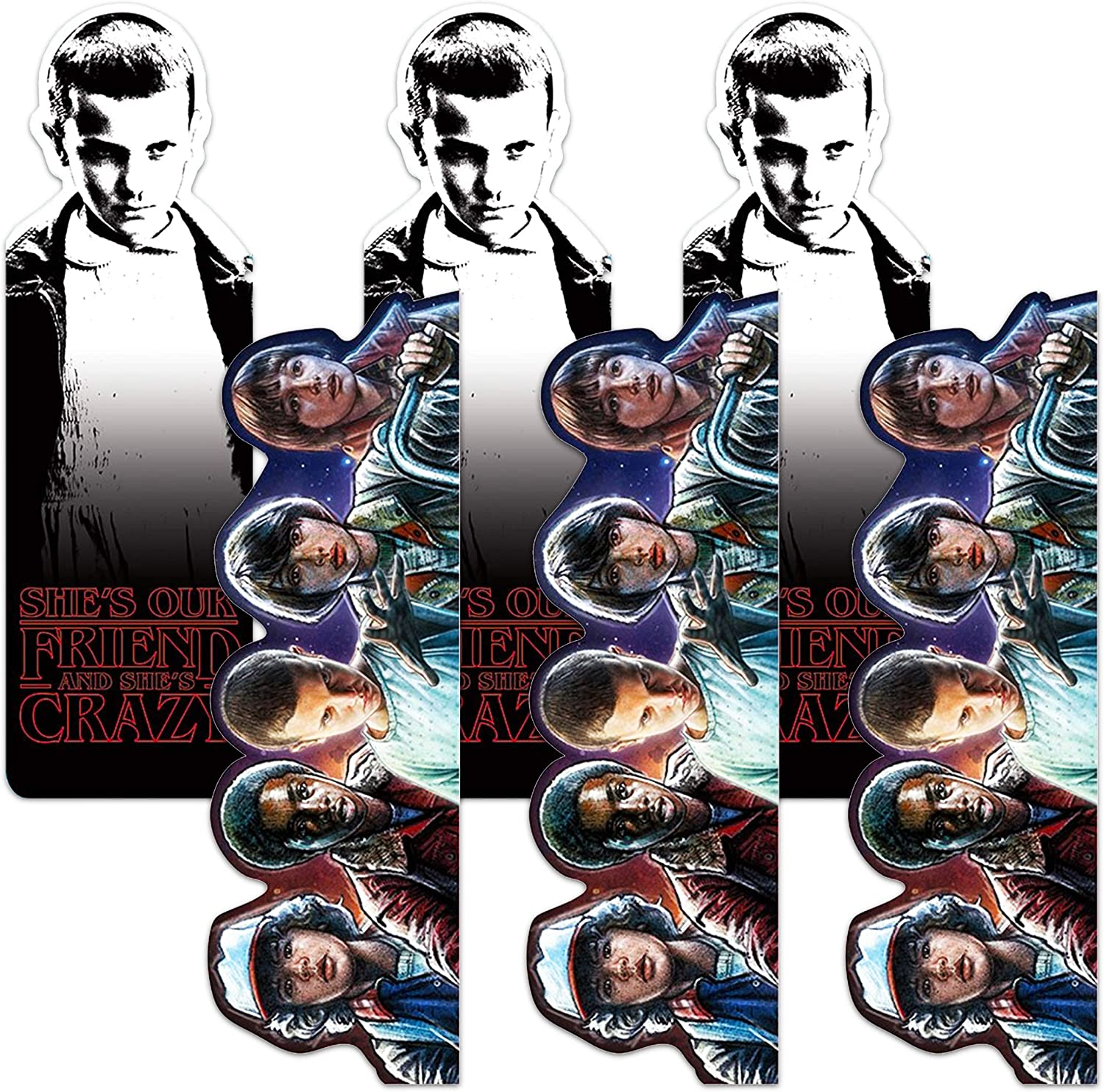 Stranger Things Party Favors Set - Set of 6 Stranger Things Bookmarks for Gifts, Party Supplies, Office Supplies (Netflix Licensed Merchandise Bundle)