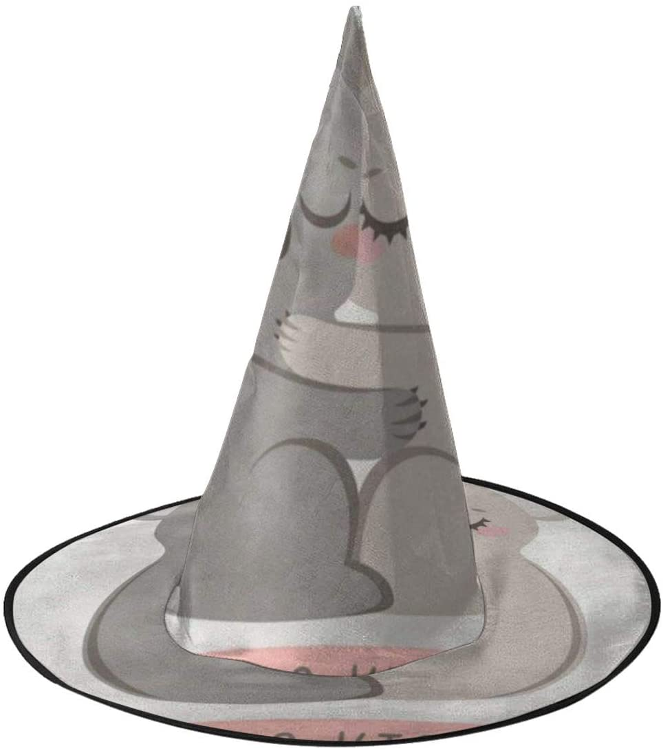 Halloween Witch Hat,Koala Kiss Stainless Witches Hat for Women Halloween Party Cosplay Decoration