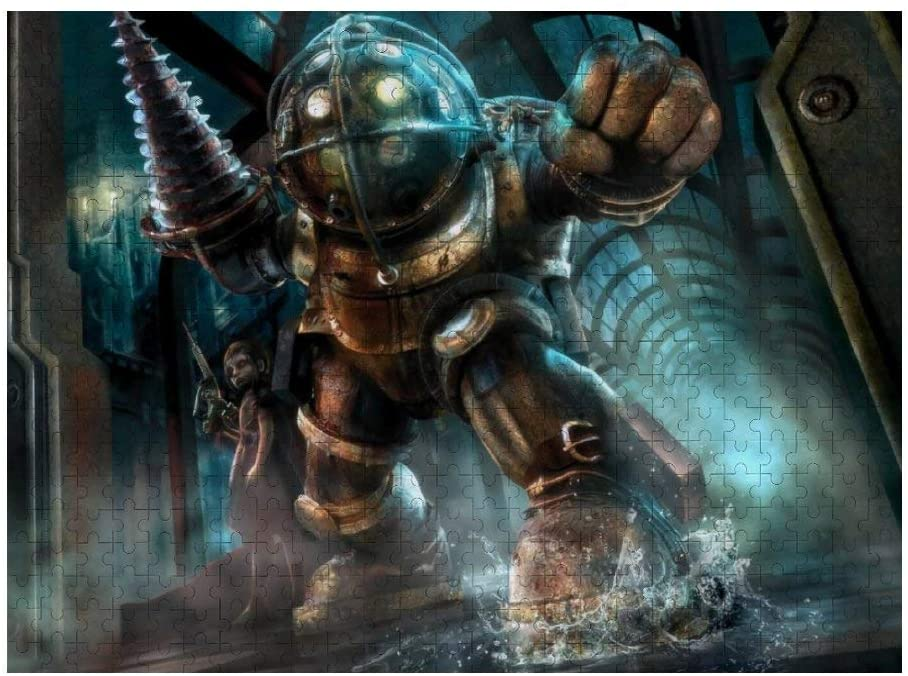 Bioshock 3D Anime Puzzles Children's Building Block Toys Birthday Gifts