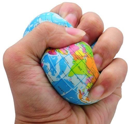 Funny World Map Globe Foam Stress Relief Bouncy Ball by MIRAGE-SHOP