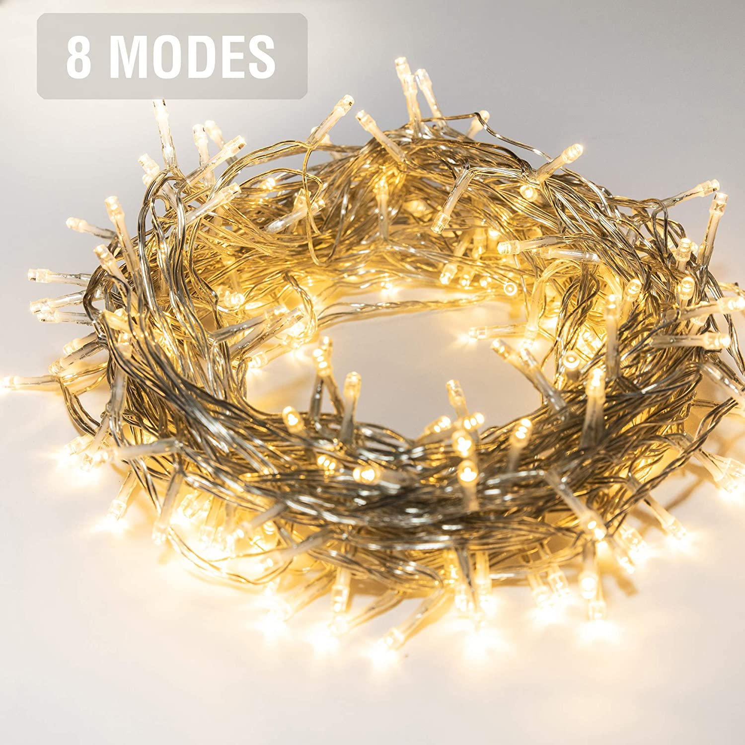 Kozyard Delite Indoor/Outdoor String Lights for Christmas, Wedding, Party, Room Decoration, UL:588 Approved (100LED, Warm White)