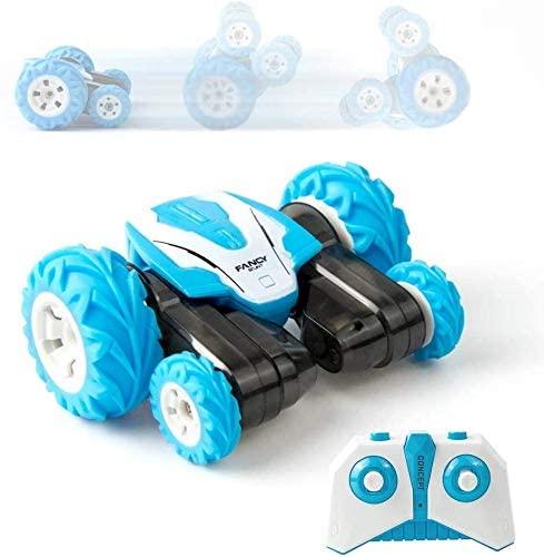 CGIIGI RC Mini Remote Control Car Stunt Car Toy, 4WD 2.4Ghz Remote Control Car Double-Sided Rotating Car 360° Flip Children's Toy Car Boy Girl Birthday