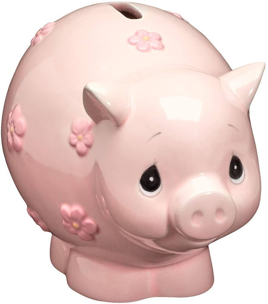 Precious Moments 162425 Baby Piggy Bank Ceramic Figurine