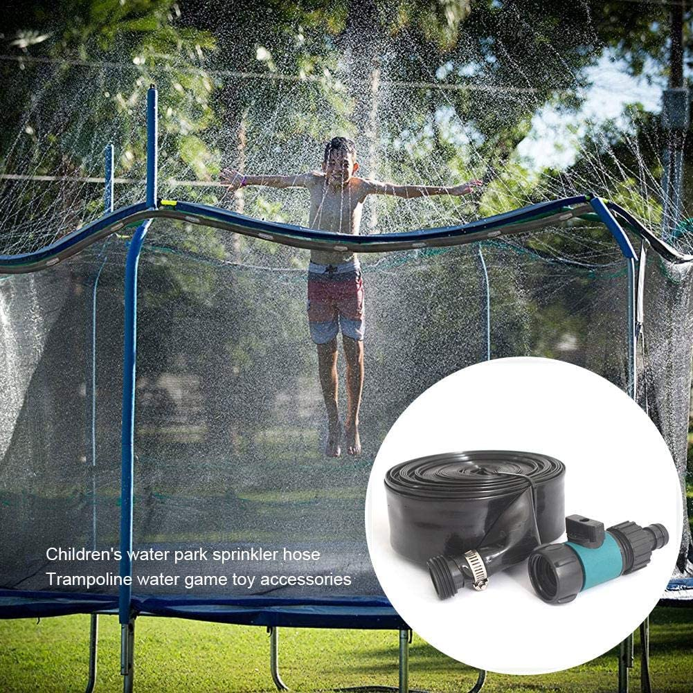 CAPTHOME Trampoline Water Sprinkler for Kids, Outdoor Water Play Sprinklers Fun Summer Water Game, Sprinkler Hose for Boys Girls Adults Water Play Centre Party Games