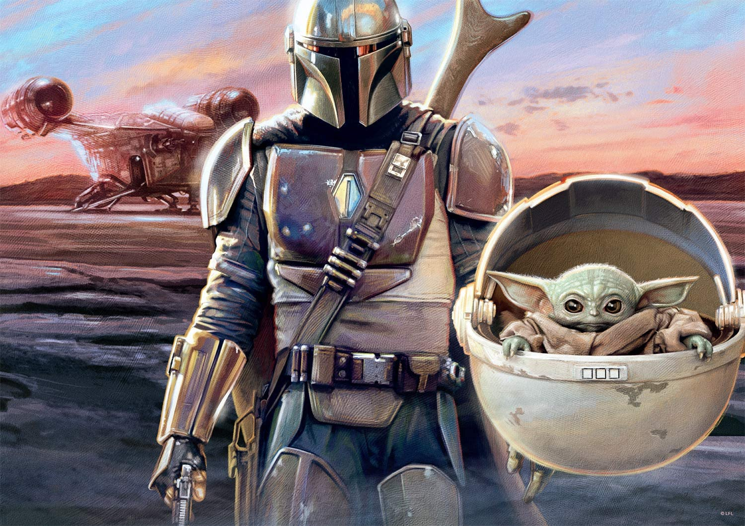 Star Wars - The Mandalorian - This is The Way - 500 Piece Jigsaw Puzzle