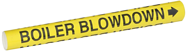 Brady 5636-O High Performance - Wrap Around Pipe Marker, Legend Boiler Blowdown