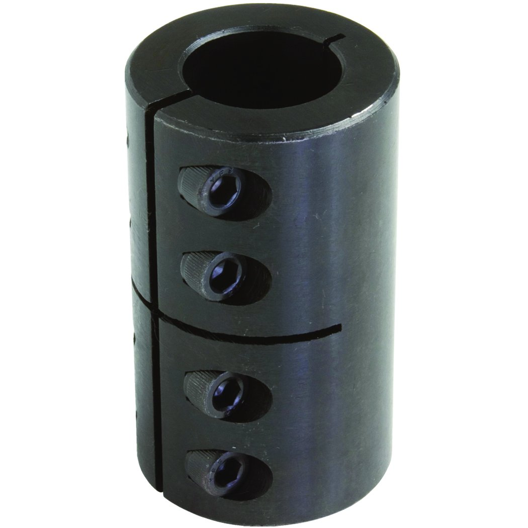 Climax Part MISCC-16-16 Mild Steel, Black Oxide Plating Clamping Coupling, 16 millimeters X 16 millimeters bore, 34 millimeters OD, 50 millimeters Length, M 5 x 16 Clamp Screw