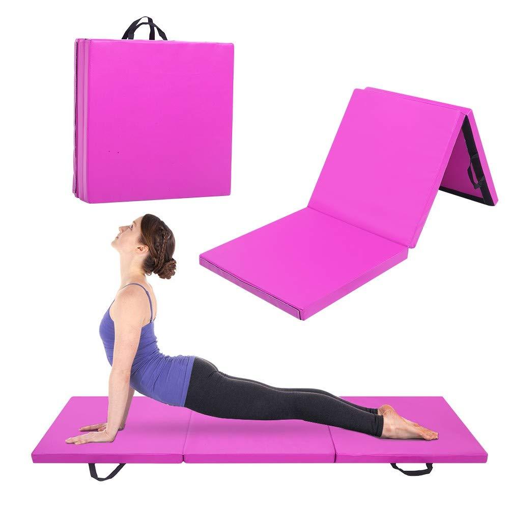 AmyDong Folding Exercise Gymnastics Mat Tumbling Mats 6