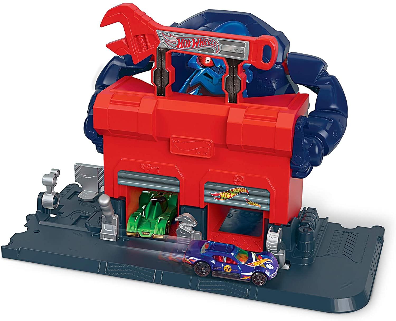 Hot Wheels Creature Attack Playsets, Gorilla Garage, Multicolor