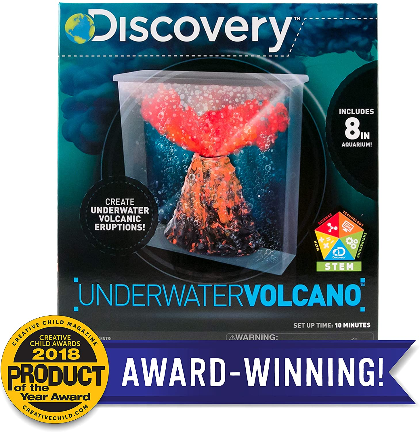 Discovery Under Water Volcano Eruption by Horizon Group Usa, Perform Stem Science Fair Experiments with Bubbly, Fizzy, Lava Eruptions, Model:765940739068