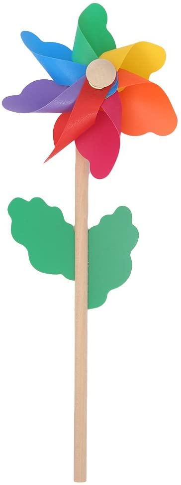 XISAOK Wood Windmill Wind Spinner Pinwheels Home Garden Yard Decoration Kids Toys