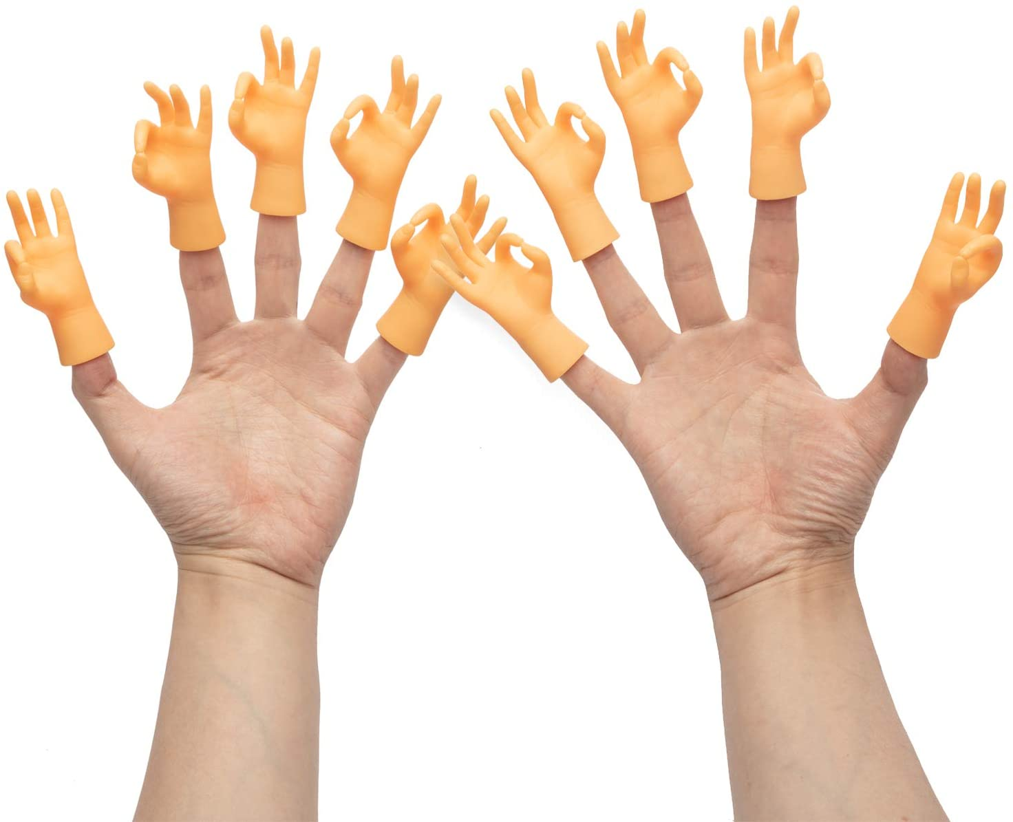 Yolococa 10 Pieces Finger Puppet Mini Finger Hands Tiny Hands with Left Hands and Right Hands for Game Party,Gesture Ok