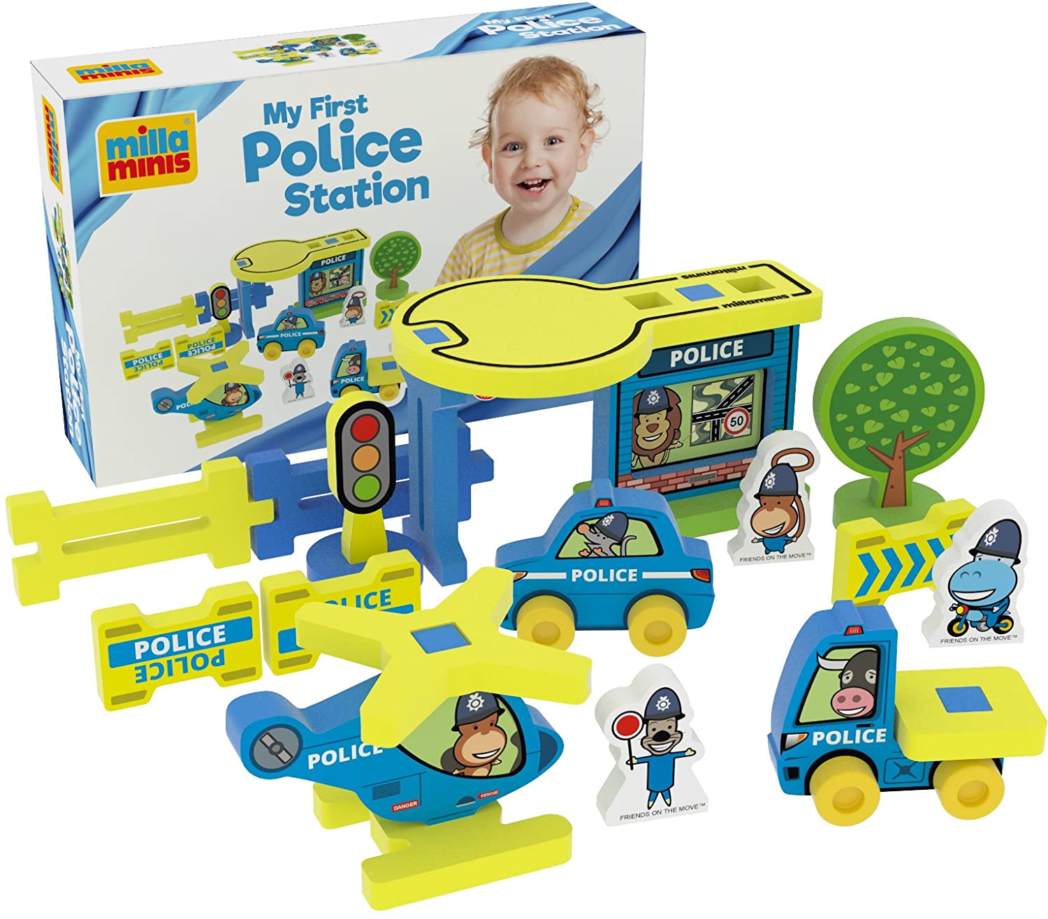 Millaminis Millaminis0071 22 Pieces My First Police Station, Multi-Color