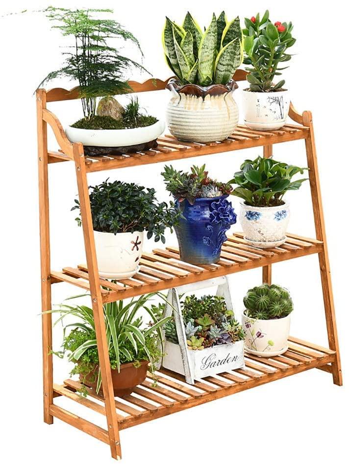 PLLP Home Plant Stand,Flower Display Stands Solid Wood Flower Stand Multi-Layer Plant Flower Display Stand Floor-Standing Flower Rack Flower Pot Rack Indoor Outdoor Garden
