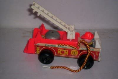 Vintage 1968 Little People Fisher Price Fire Truck Fire Engine
