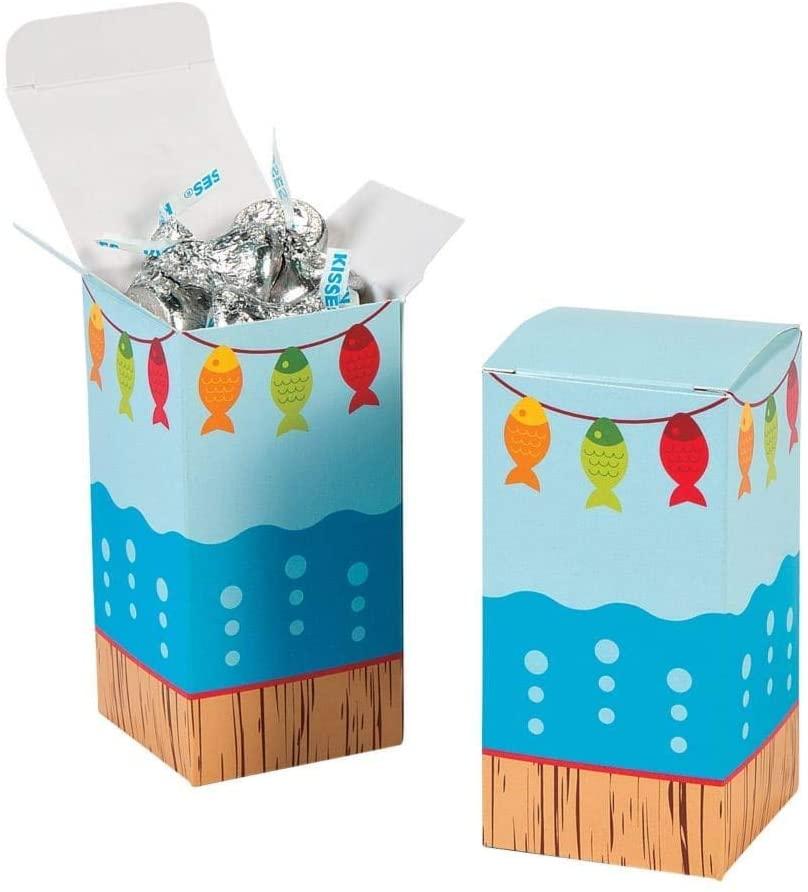 HAPPY DEALS ~ Little Fisherman Party Set of (24) Favor Treat Boxes
