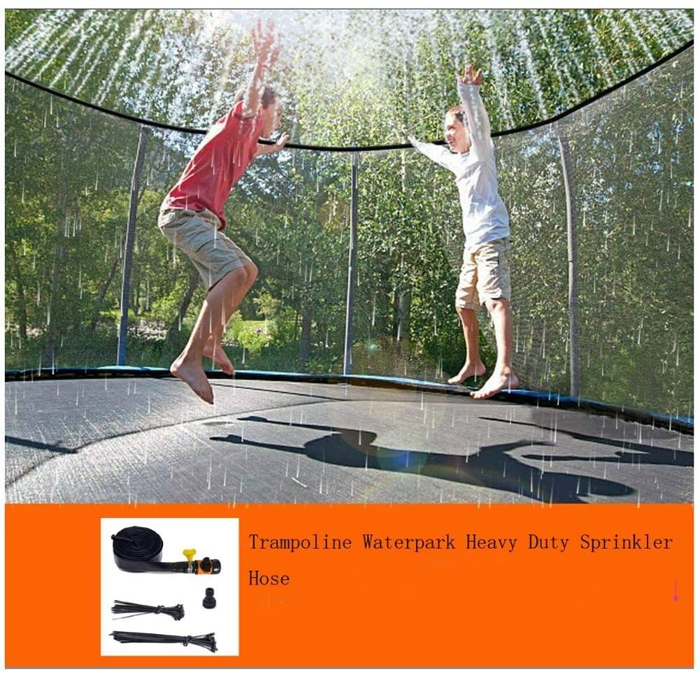 AMILIEe Trampoline Sprinklers for Kids - Trampoline Waterpark Heavy Duty Sprinkler Hose Summer Fun Outdoor Toys Sprinkler Accessories for Kids