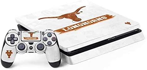Skinit Decal Gaming Skin for PS4 Slim Bundle - Officially Licensed University of Texas at Austin Texas Longhorns Distressed Design