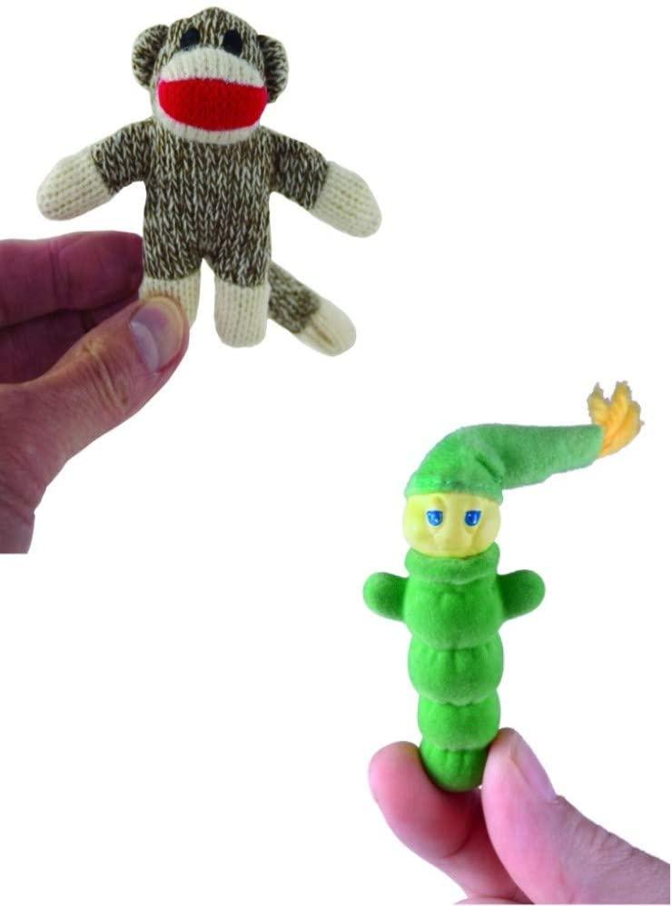 World's Smallest Glo Worm & World's Smallest Sock Monkey - Bundle Set