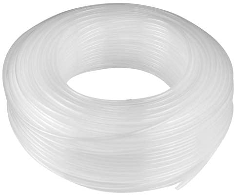 Hard Low-Pressure Semi-Clear White Polypropylene Plastic Tubing for Air and Water Applications - Inner Diameter 5/8