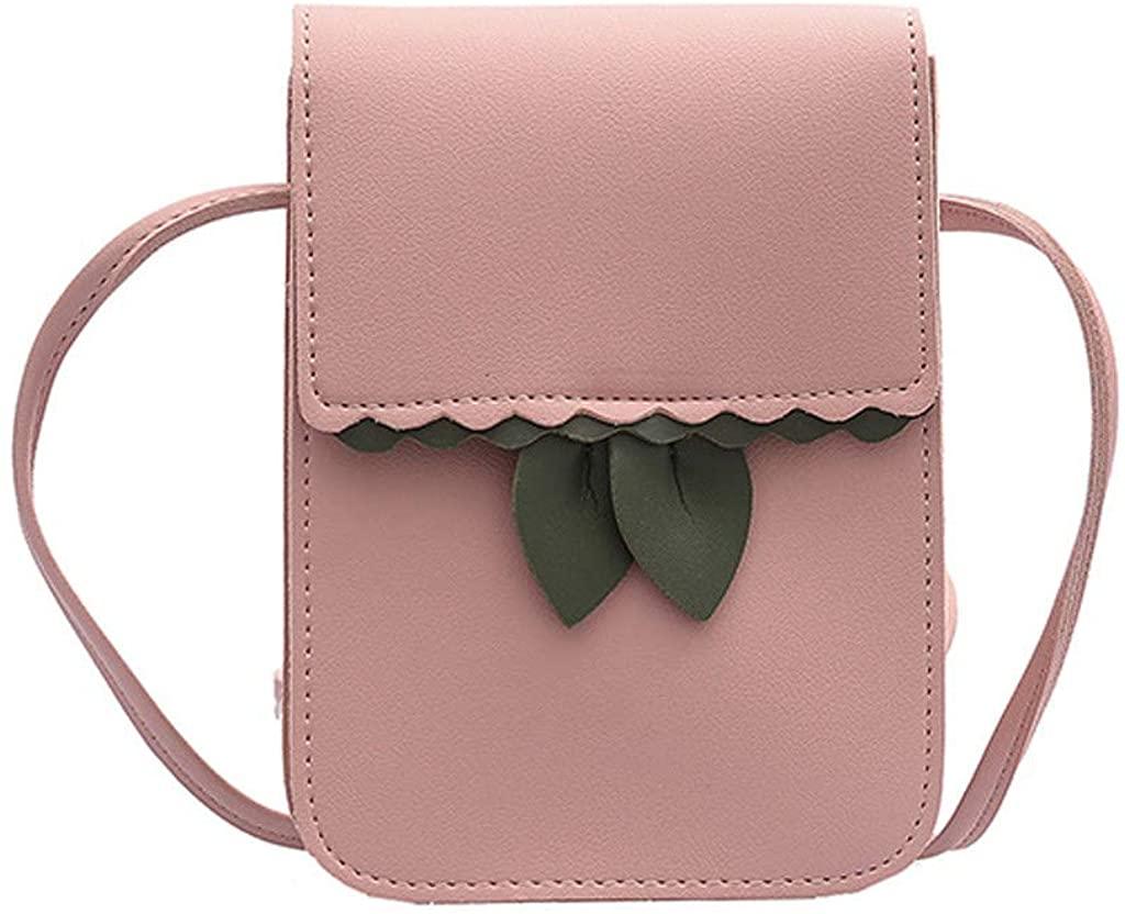 Redacel Women 2019 Leaf Shoulder Bag Fashion Small Square Messenger Bag Simple Phone Bag Crossbody Purse For Women