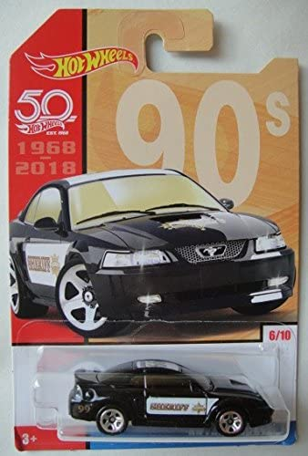 Hot Wheels 90s, Black '99 Ford Mustang 6/10 50TH Anniversary