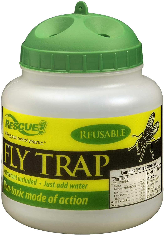 Rescue - Reusable Plastic Reusable Non-Toxic Fly Trap (12 Traps)
