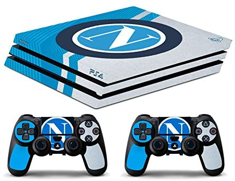 Skin Ps4 PRO - NAPOLI SCUDETTO LOGO - limited edition DECAL COVER ADESIVA Playstation 4 Slim SONY BUNDLE