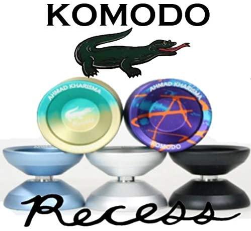 Recess Komodo Yo-Yo - Mono Metal 7075 Aluminum - Ahmad Kharisma Signature Yo Yo (Silver)