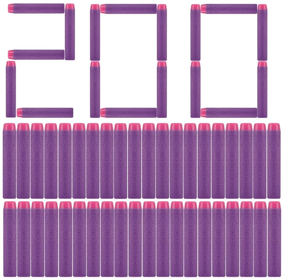 PeleusTech Refill Bullets, 200Pcs Dart Refills for Nerf Rebelle Series Blaster - (Purple)