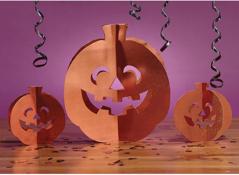 3-D Prismatic Pumpkin Centerpiece