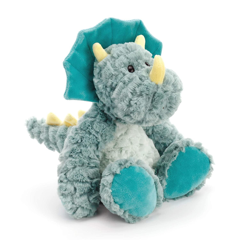 DEMDACO Drake Mellow Fellows Dinosaur Turquoise Children's Plush Stuffed Animal Toy